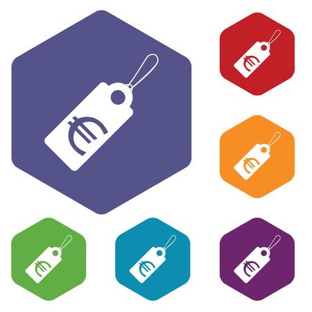 markdown: Euro tag rhombus icons