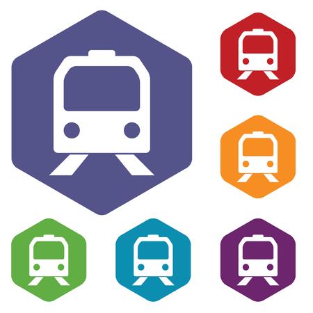 high speed railway: Train rhombus icons