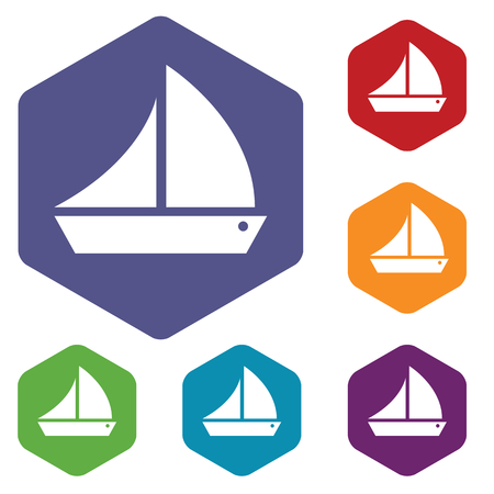 inflate boat: Ship rhombus icons