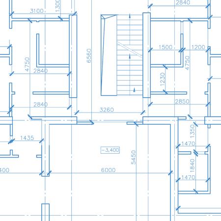 architecture model: White architecture model Illustration