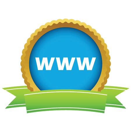 www: Gold www icon