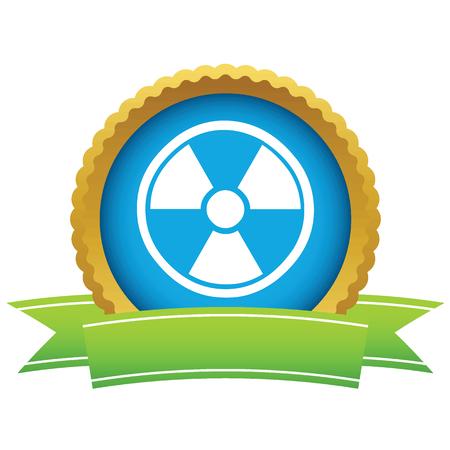 plutonium: Gold nuclear logo