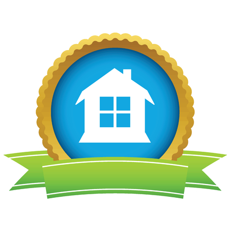 gold house: Gold house icon Illustration
