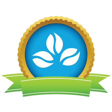 coffee beans: Oro granos de caf� logotipo