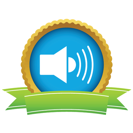 cd r: Gold add sound icon