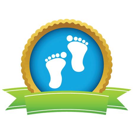 foot steps: Gold foot steps logo