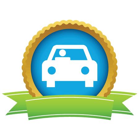 car front: Gold car logo Illustration