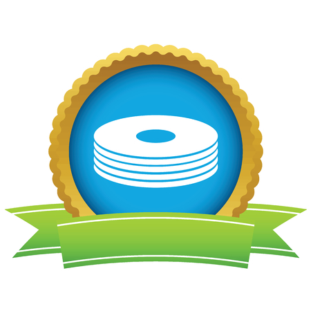 Gold disk icon