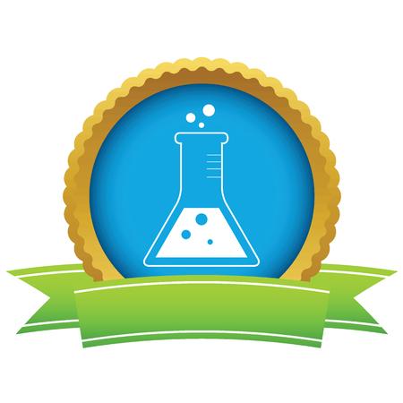 liquid: Gold flask with liquid logo