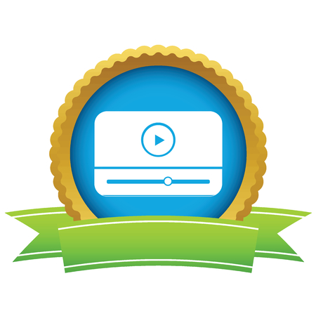windows media video: Icono del reproductor multimedia de Oro