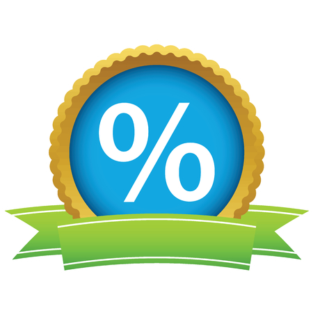 percentage: Gold percentage icon