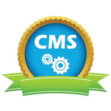 Gold cms logo Vector
