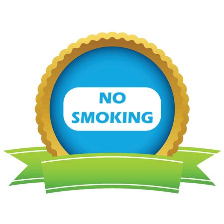 smoldering: Gold no smoking icon