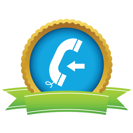 incoming: Gold incoming call icon