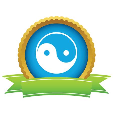 taoism: Gold Taoism logo Illustration