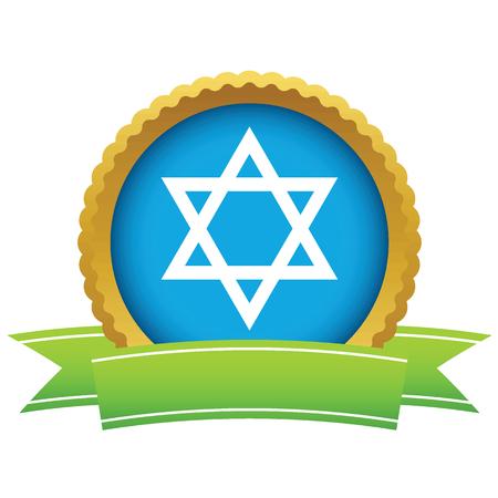 shield of david: Gold Judaism icon