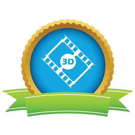 3d film: Gold 3d film logo