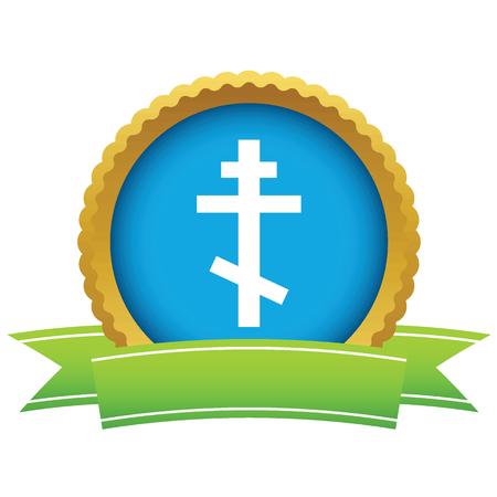 Gold orthodoxy logo Ilustração