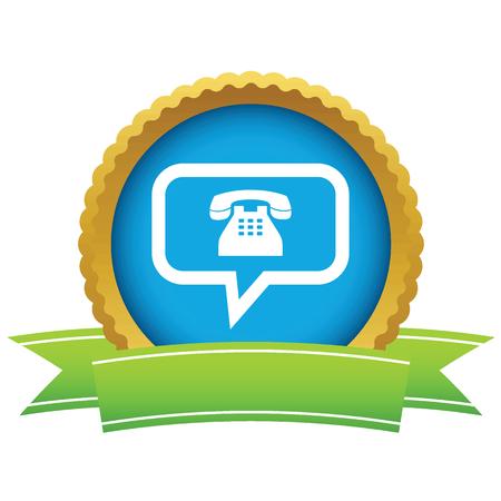 conversation icon: Gold telephone conversation icon