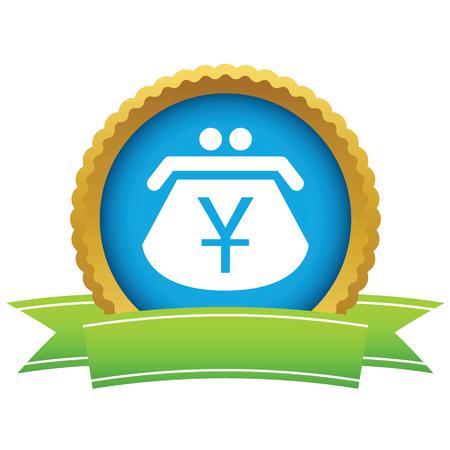 purse: Gold yen purse icon