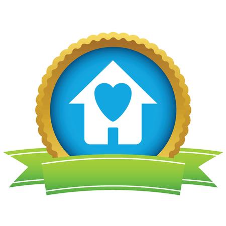 casa logo: Casa amore oro logo
