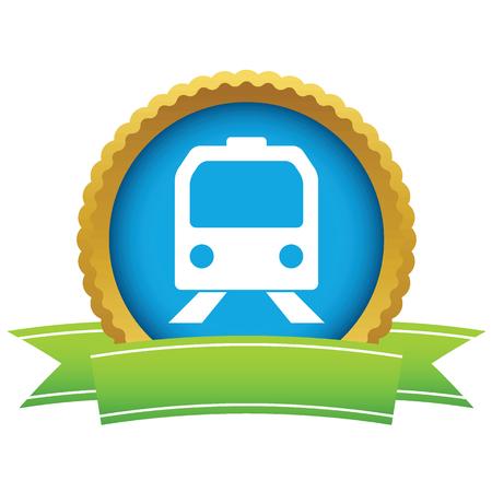 Gold train icon Vector
