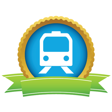 Gold train icon Vector