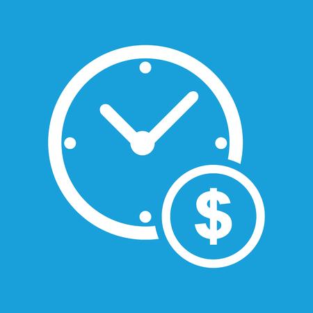 money time: Clock money white icon