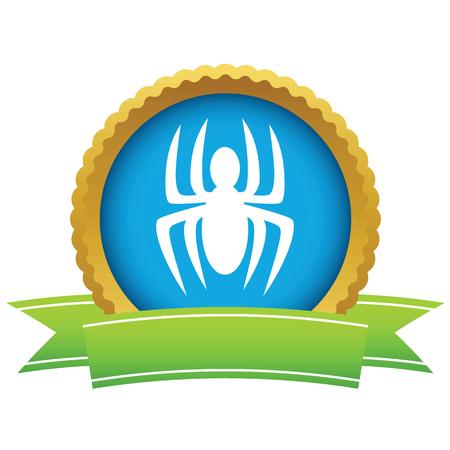 latrodectus: Gold spider icon