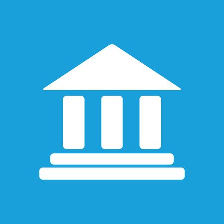 Bank white icon