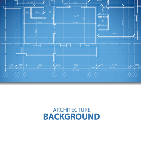 urban planning: Blue architecture plan Illustration