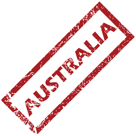 australia stamp: New Australia rubber stamp Illustration