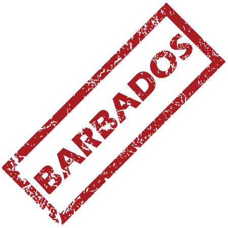 barbados: New Barbados rubber stamp Illustration