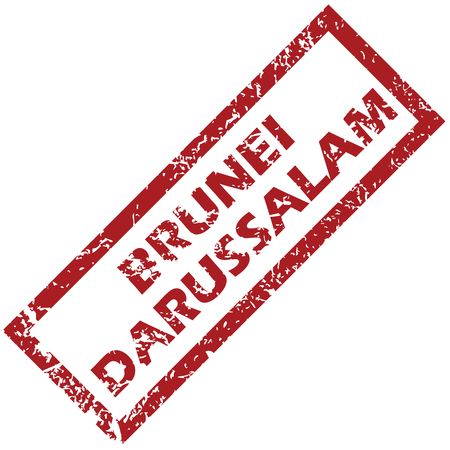 brunei darussalam: New Brunei Darussalam rubber stamp Illustration