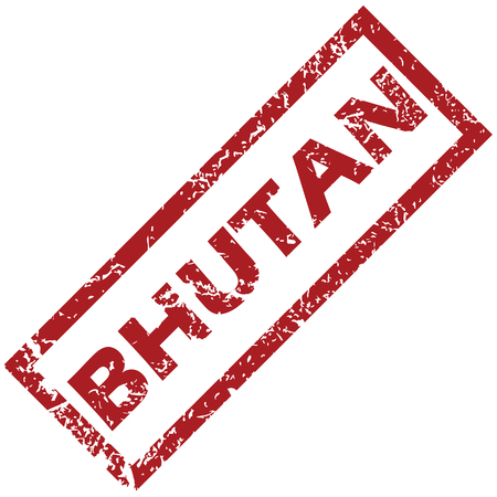 bhutan: New Bhutan rubber stamp Illustration