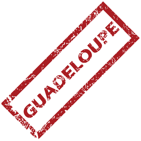 guadeloupe: New Guadeloupe grunge rubber stamp on a white background. Vector illustration Illustration