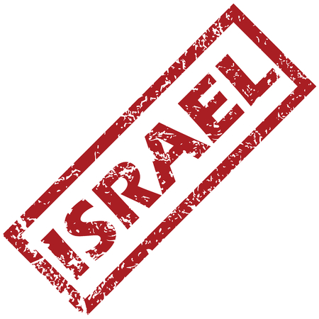 unclean: New Israel grunge rubber stamp on a white background. Vector illustration
