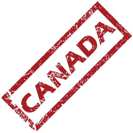canada stamp: New Canada grunge rubber stamp on a white background. Vector illustration Illustration