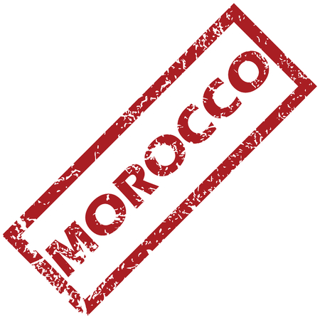 unclean: New Morocco grunge rubber stamp on a white background. Vector illustration Illustration