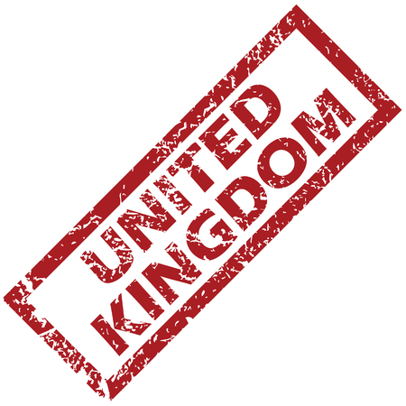 united kingdom: United Kingdom rubber stamp Illustration