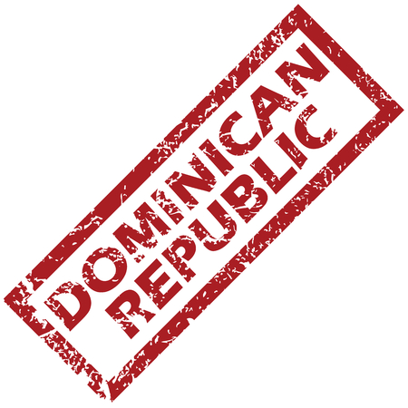 dominican: Dominican Republic rubber stamp
