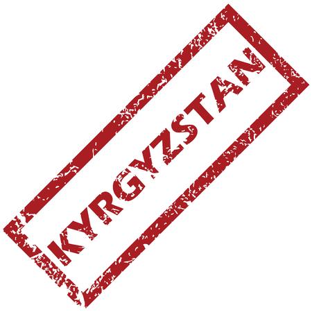 kyrgyzstan: Kirguistán sello de goma