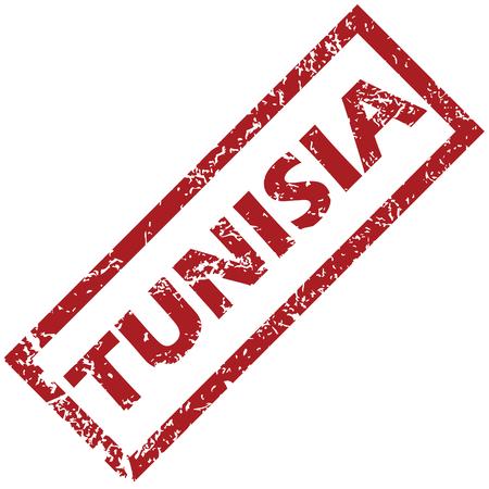 tunisia: New Tunisia rubber stamp Illustration