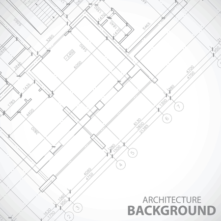 urban planning: New black architecture background Illustration