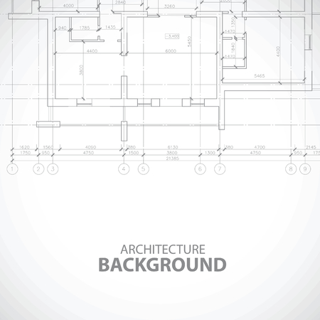 urban planning: Unique black building background Illustration