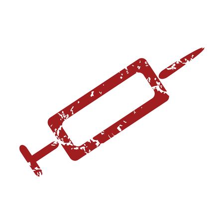 syringe inoculation: Red grunge syringe