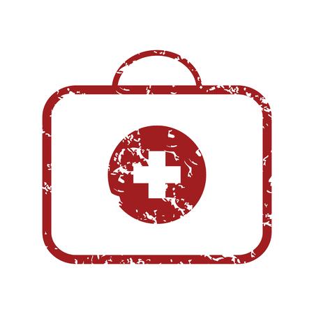 health care concept: Red grunge doctor bag Illustration