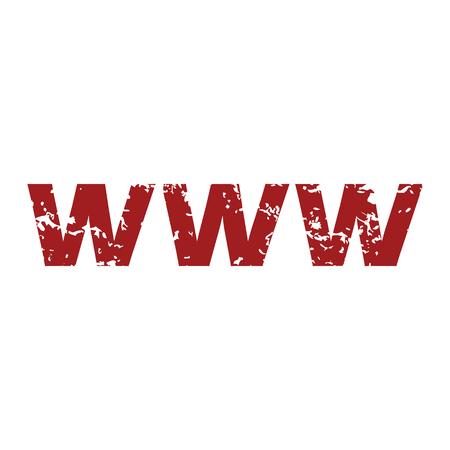 www: Red grunge www