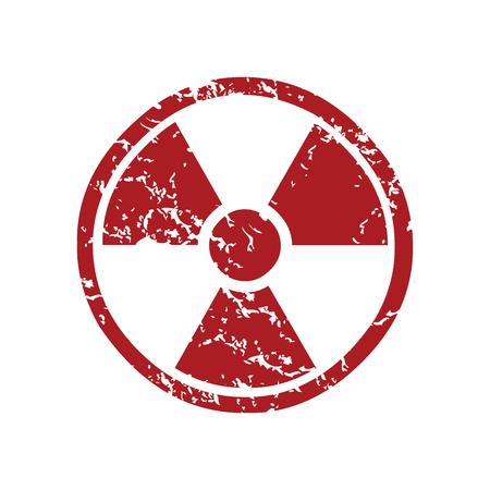 fission: Red grunge nuclear