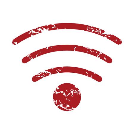 red grunge: Red grunge wifi